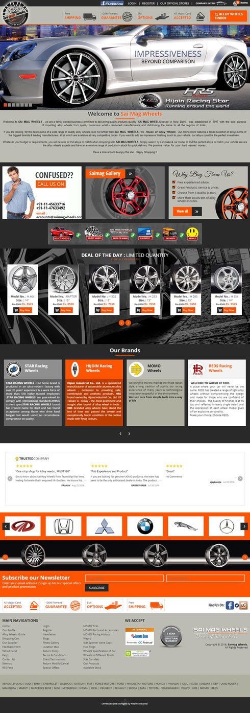 Sai Mag Wheels India Web Design