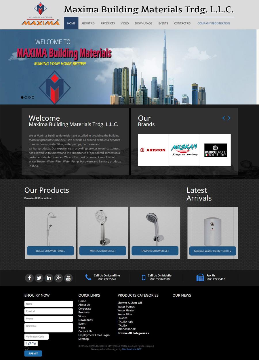 MAXIMA BUILDING MATERIALS TRDG - SEO Portfolio