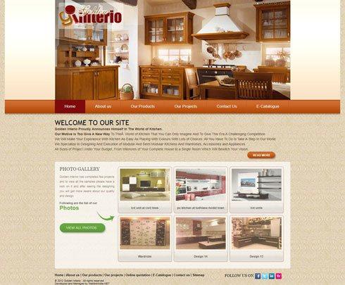 Golden Interio - Web Design Portfolio