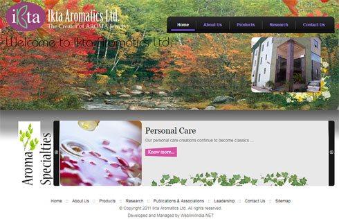 Ikta Aromatics Ltd. India Web Design