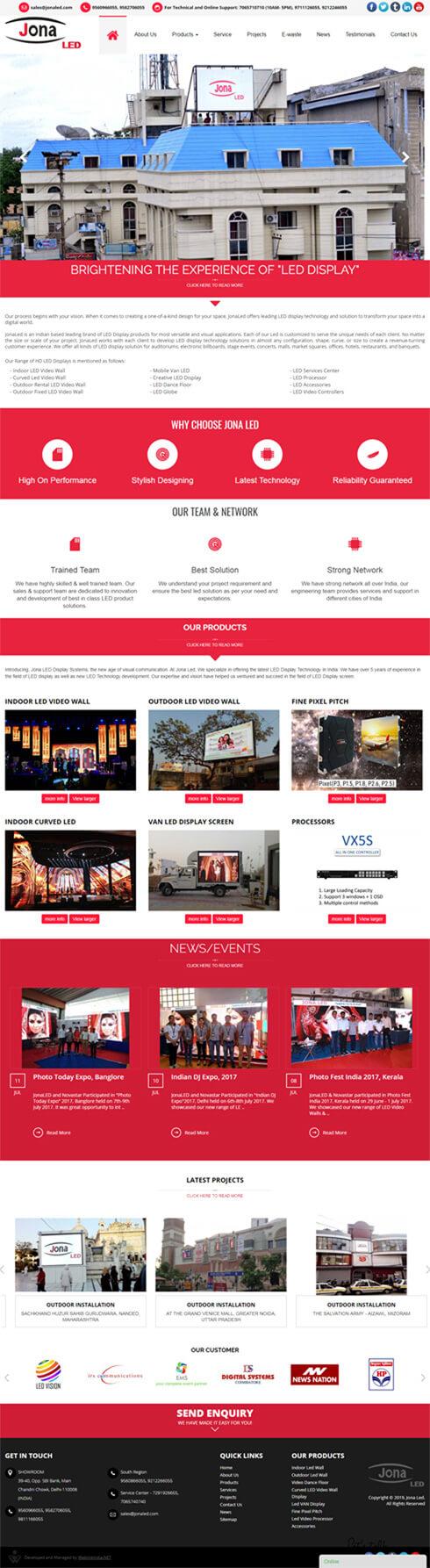 Jona Led India Web Design
