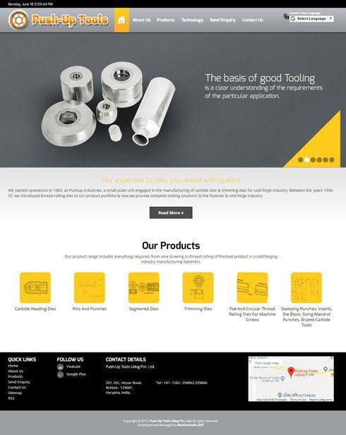 Push-Up Tools - Web Design Portfolio