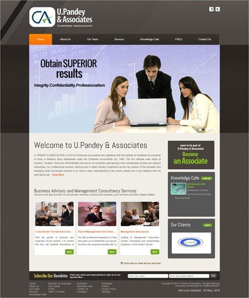 U. Pandey & Associates - Web Design Portfolio