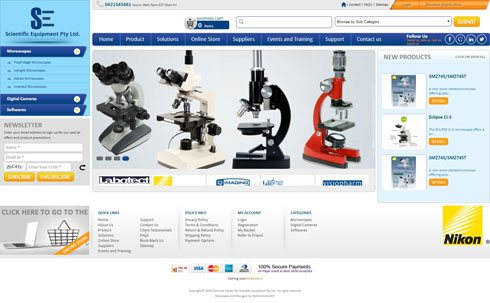 Scientific Equipment Pty Ltd. Australia Web Design