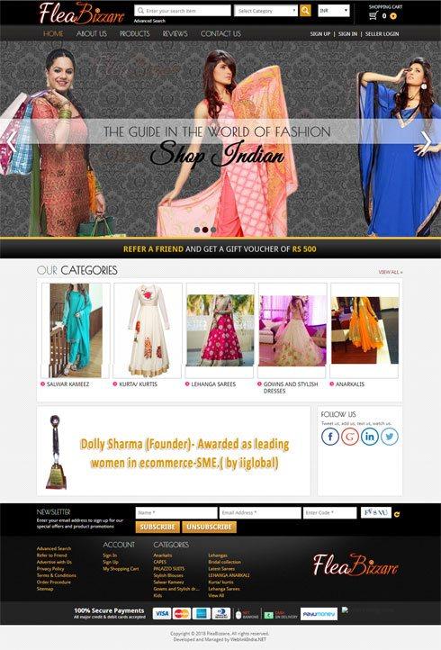 Flea Bizzare India Web Design