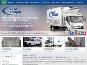 Fresh Freight Refrigerated Transport L.L.C. - Web Design Portfolio