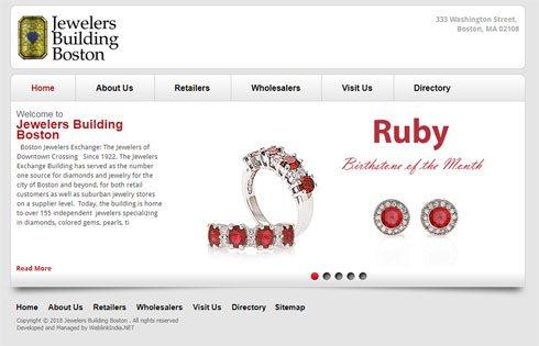 Boston Jewelers United States Web Design