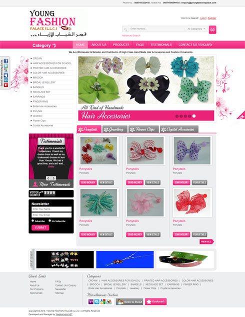 Young Fashion Palace LLC United Arab Emirates Web Design