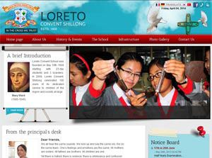 Loreto Convent Shillong - Web Design Portfolio