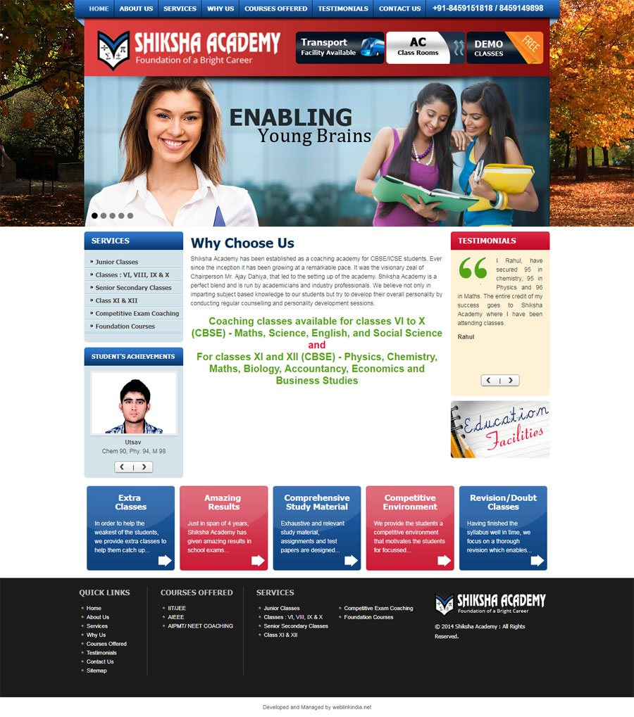 Shiksha Academy - Web Design Portfolio