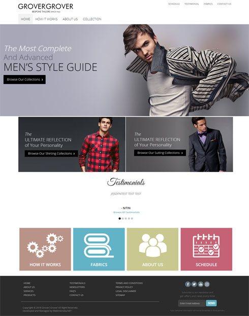 Grover & Grover India Web Design