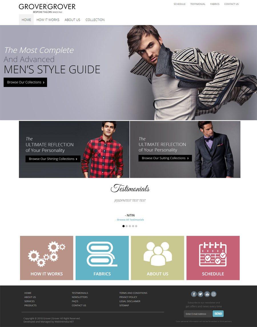 Grover & Grover - Web Design Portfolio