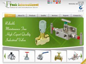 YASH VALVES - Web Design Portfolio