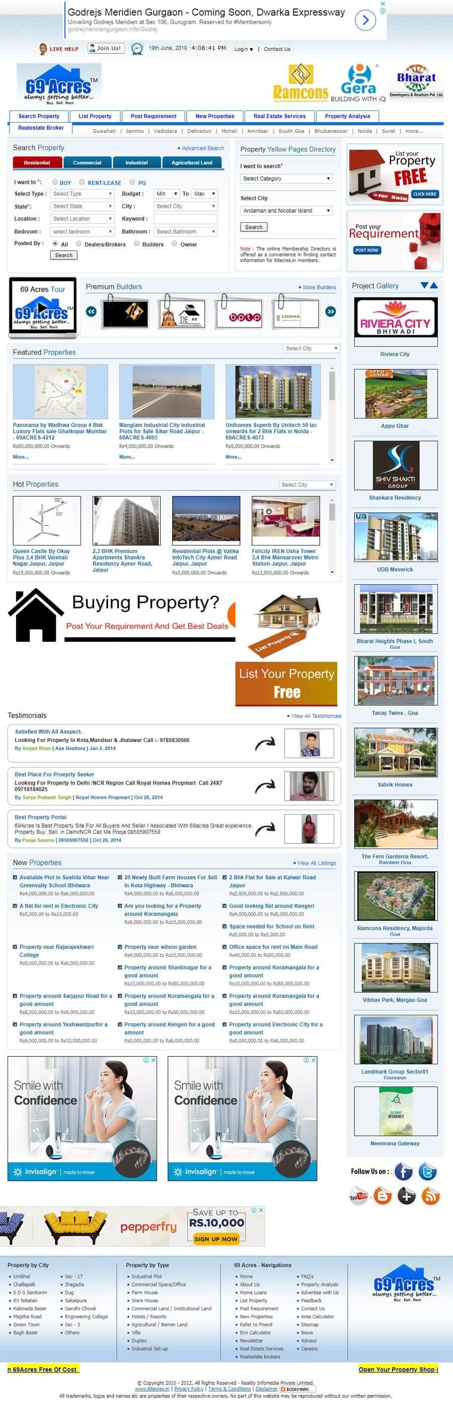 69 Acres - Web Design Portfolio