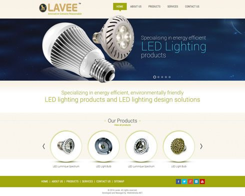 Lavee India Web Design
