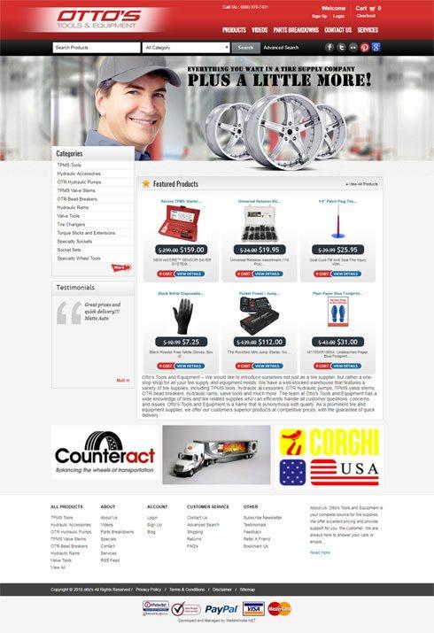 Ottos Tools And Equipment - Web Design Portfolio