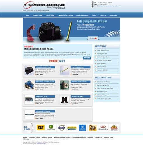 Micron Precision Screws Ltd. India Web Design