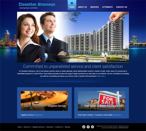 Clooether Attorneys South Africa Web Design