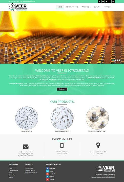 Veer Electrometals - Web Design Portfolio