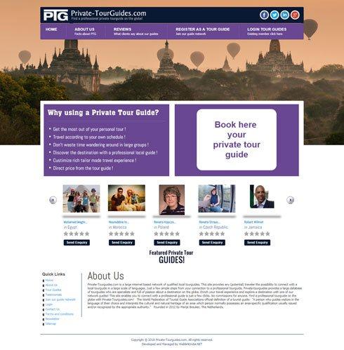 Private-Tourguides.com Netherlands Web Design