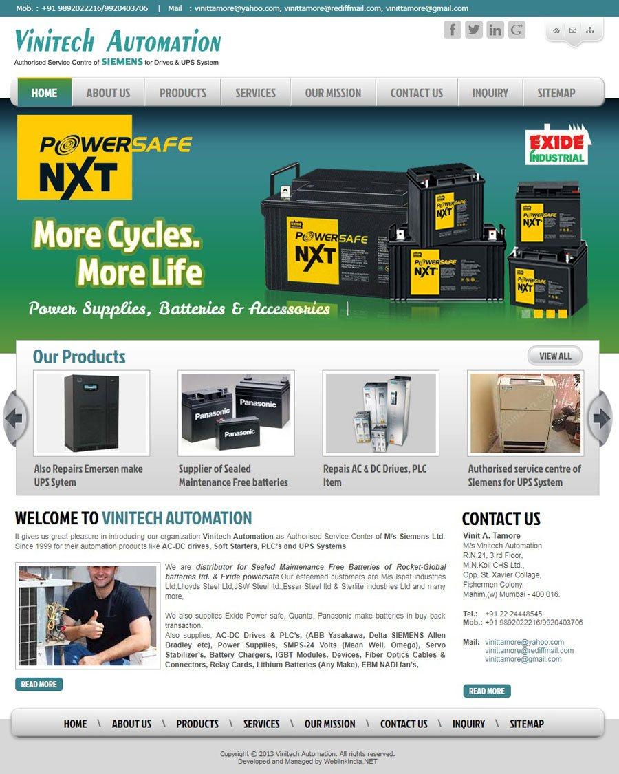 VINITECH AUTOMATION - Web Design Portfolio