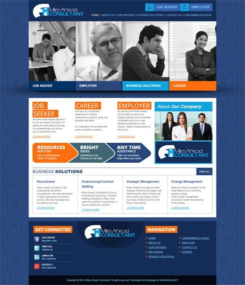 MIles Ahead Consultant India Web Design