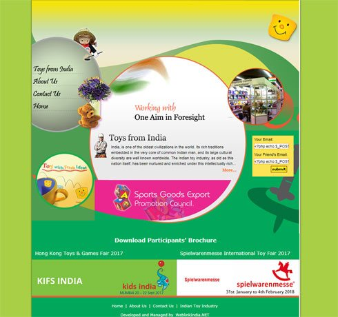Sports Goods Export Promotion Council India Web Design