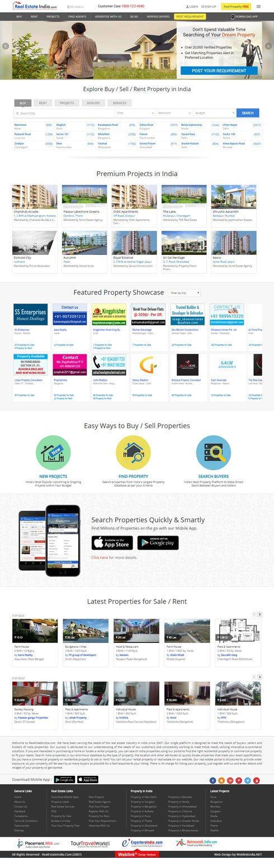 RealEstateIndia India Web Design