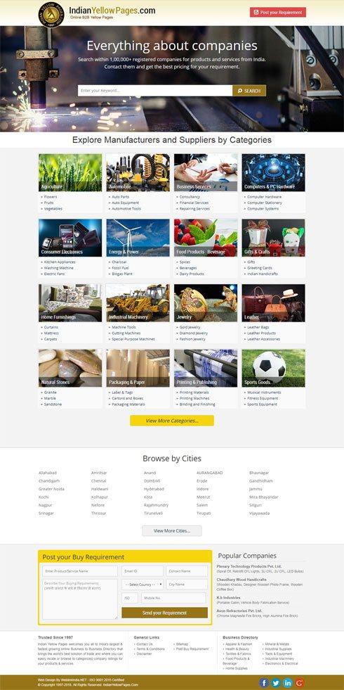 Indianyellowpages India Web Design