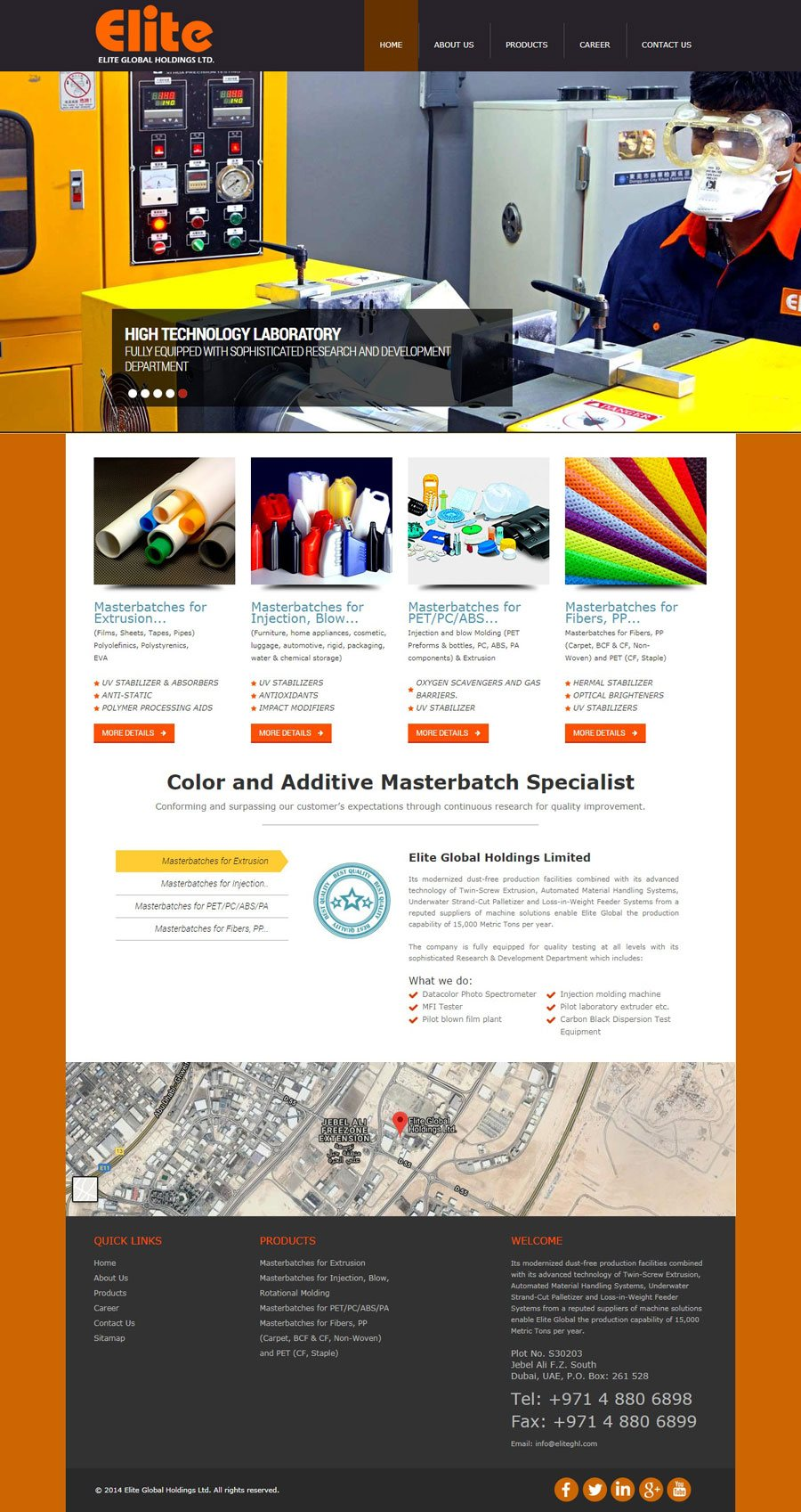 Elite Global Holdings Limited - Web Design Portfolio