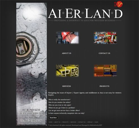 Aierland China Web Design