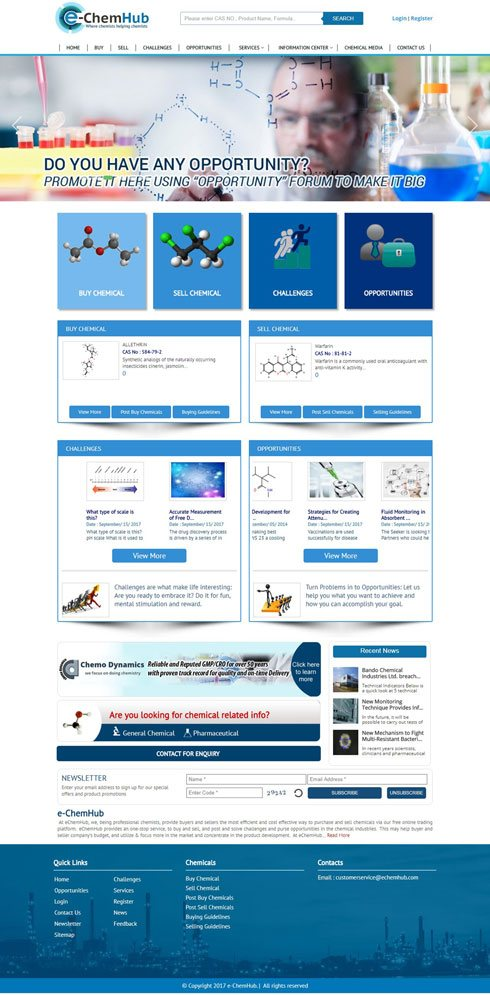 E-ChemHub United States Web Design