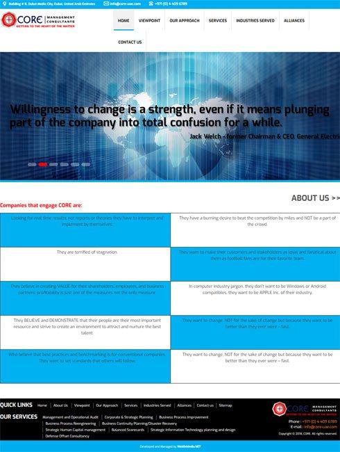 CORE United Arab Emirates Web Design