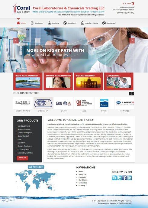 Coral Lab & Chem Pvt Ltd United Arab Emirates Web Design