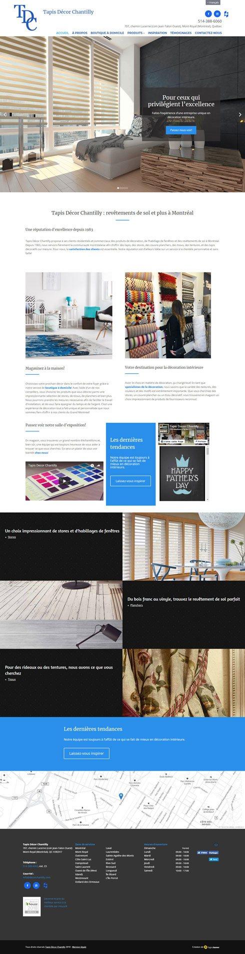 Tapis Decor Chantilly Canada Web Design