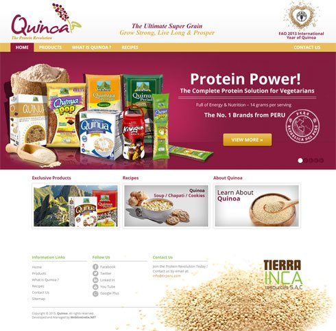 Quinoa  United Kingdom Web Design