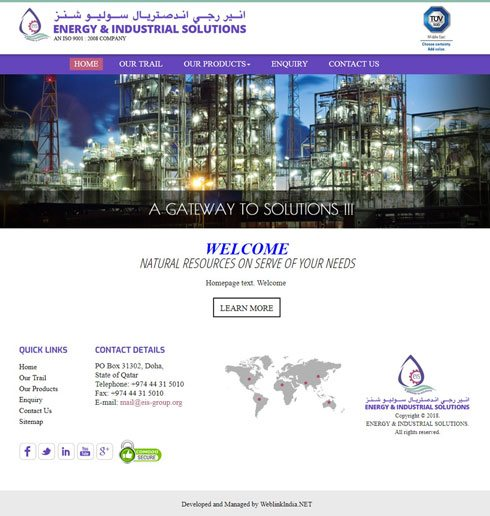ENERGY & INDUSTRIAL SOLUTIONS  Qatar Web Design