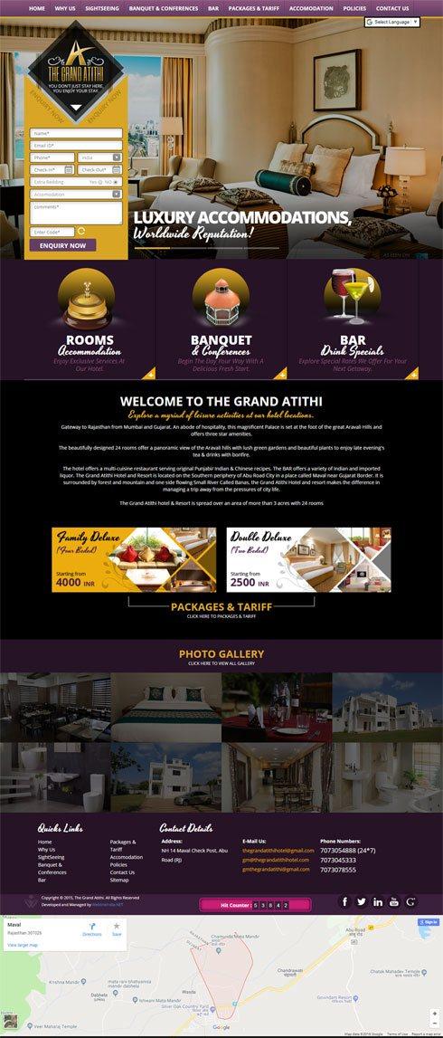 The Grand Atithi India Web Design