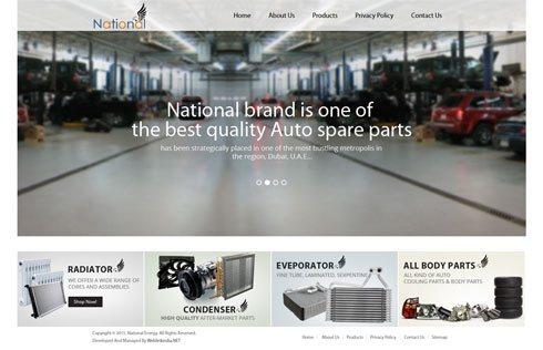 National Radiator United Arab Emirates Web Design