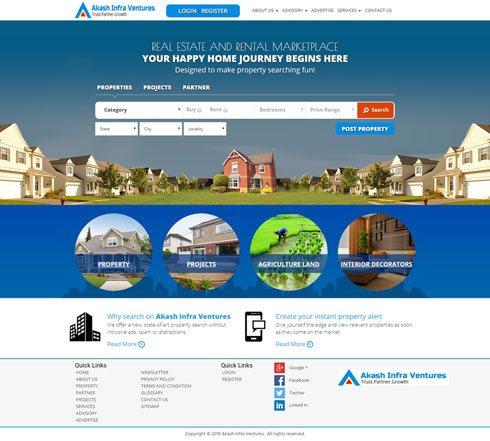 Akash Infra Ventures India Web Design