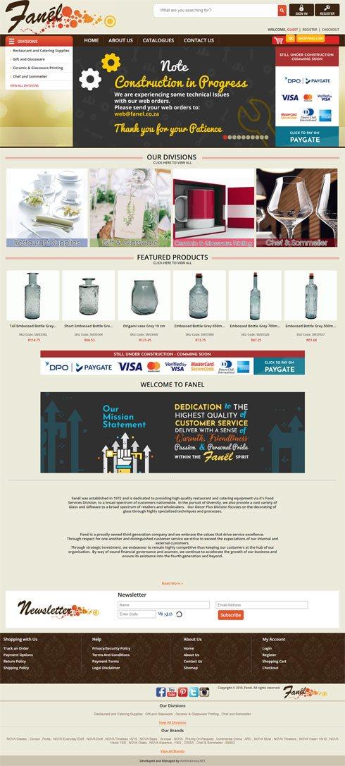 Fanel  South Africa Web Design