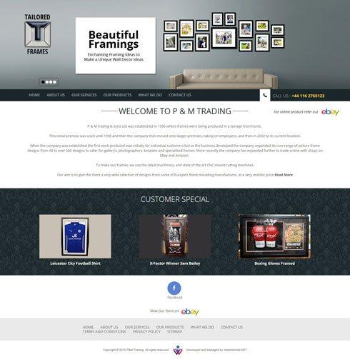 P & M Trading & Sons Ltd United Kingdom Web Design