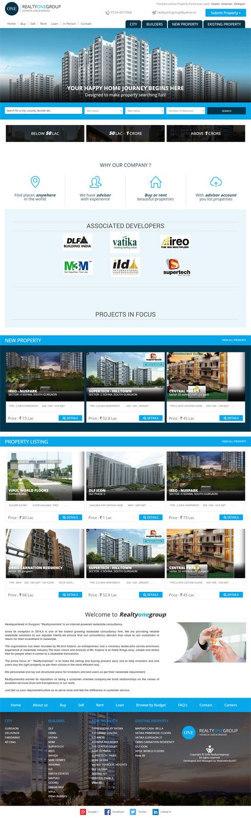 Realty One Group India Web Design