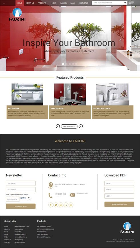 Hercules International Enterprises Italy Web Design