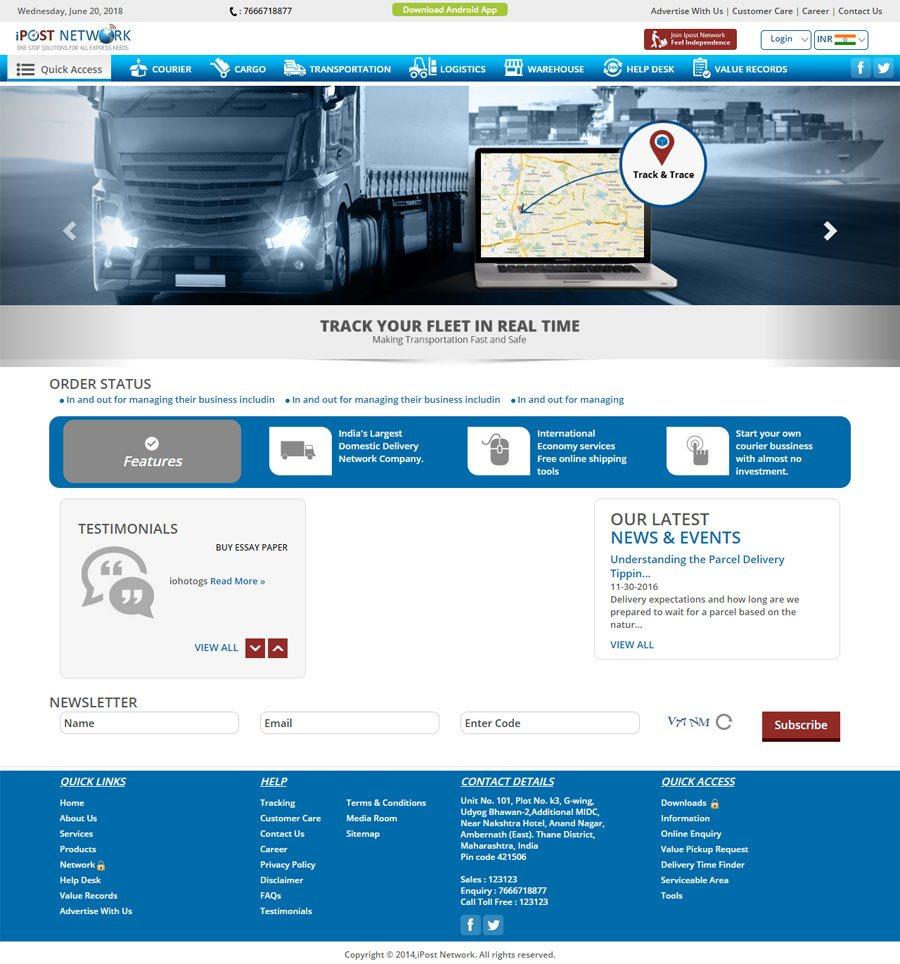 IPOSTNETWORK - Web Design Portfolio