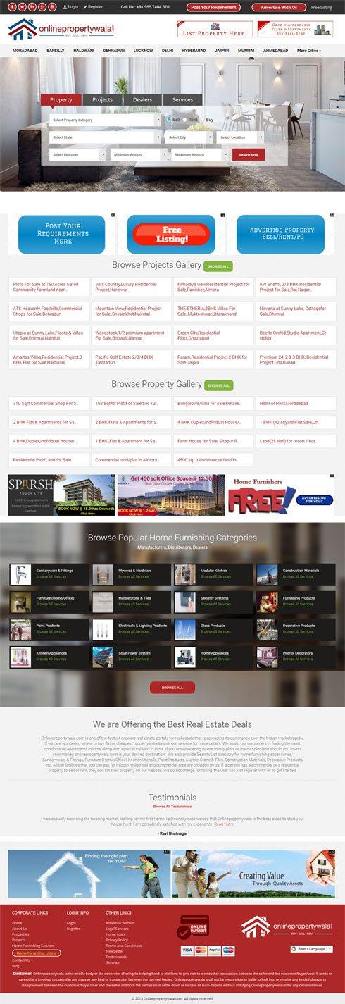 Online Propertywala India Web Design