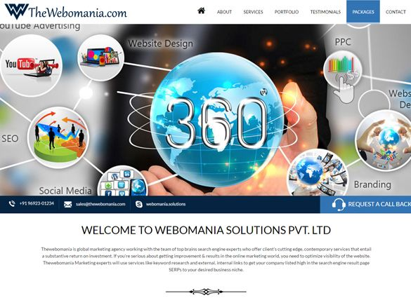 WEBOMANIA SOLUTIONS - Web Design Portfolio