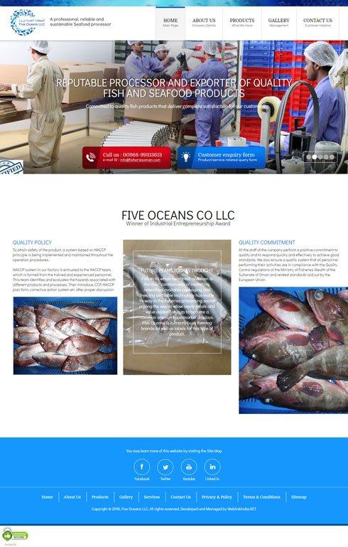 Five Oceans Oman Web Design