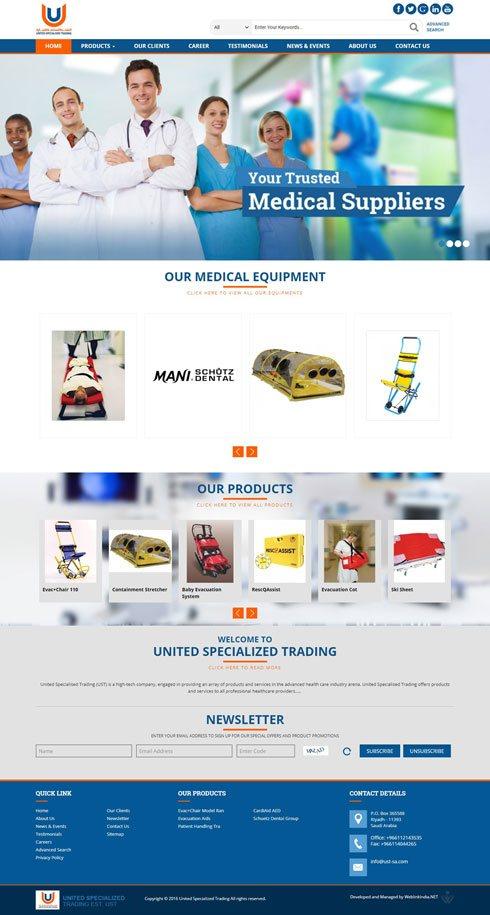 United Specialised Trading Saudi Arabia Web Design
