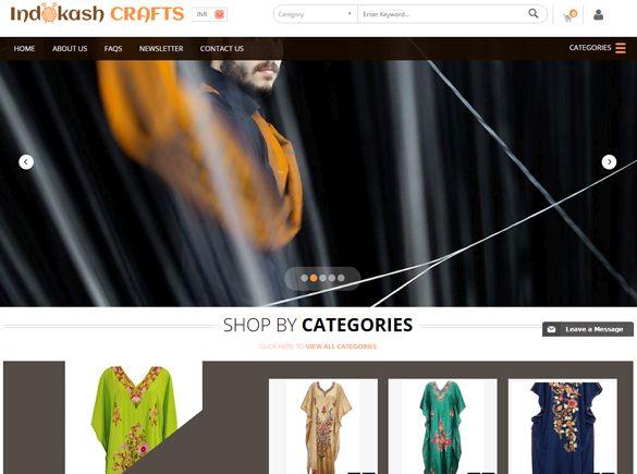 Indokash Crafts India Web Design